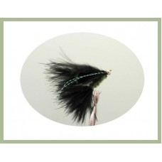Cats Whiskers Black & Lime Gold Head