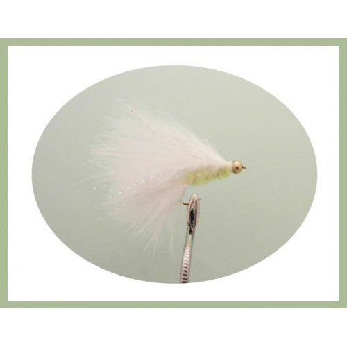 White Tadpole Trout Fly Lure cats whisker size 10