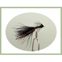 Goldhead Flash Damsel - Black/Red