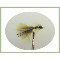 Goldhead Flash Damsel - Olive/Blue