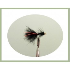 Mini Goldhead Flash Damsel - Black/Red