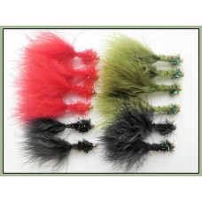 12 Cactus Collar Fritz, Red,Black and Olive