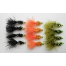 12 Hothead Fritz Goldhead Lures, Double Bead
