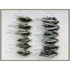 12  Goldhead Sparkle - Olive and Black - silver wing