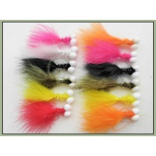 12 Booby Trout Flies - Mixed Colours