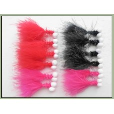 12 Booby Trout Flies Pink ,Black and Red