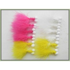 12 Booby Trout Flies Yellow,Pink and White