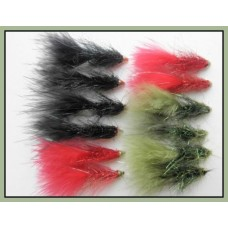 12 Lightening Flash, Red Black & Olive