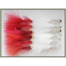 12 Red and White Conehead Bullet