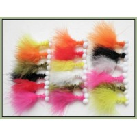 18 Mixed Booby Lures - Mixed Colours