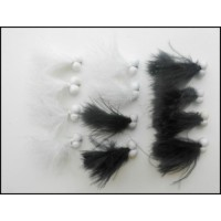 12 Booby Cats Whiskers - Black and White