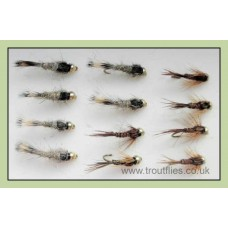 12 Goldhead Nymph - Hares Ear and Pheasant Tail