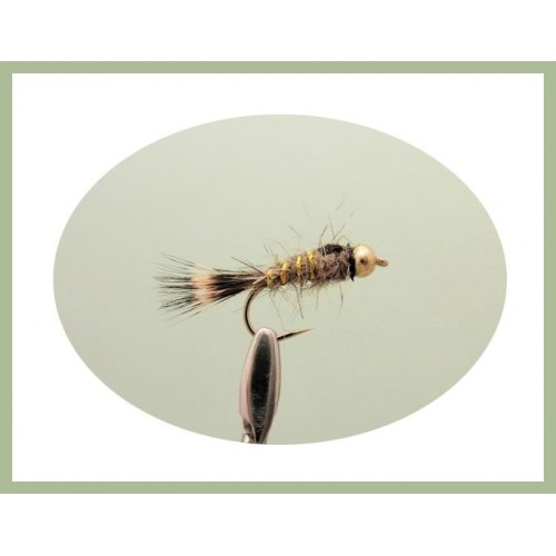 GOLDHEAD GOLD RIBBED HARES EAR NYMPH Wet Trout Fishing Flies various options