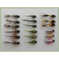 18 Tungsten Bead Nymph, HE, Pheasant, Olive, Czech and Quills