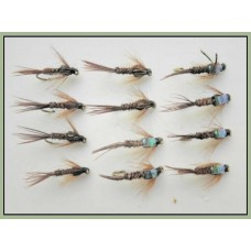 12 Pheasant Tail Nymph, Flash & Standard