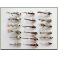 18 Hares Ear & Flash and Standard Pheasant Tail Nymph