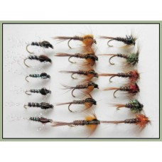 18 Nymph Flies - Cruncher and Pheasant Tails