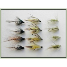 12 Dabblers - Olive, Teal & Flaming Mayfly