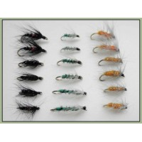 18 Wets Flies, Bibio,Grenadier, Insect Green