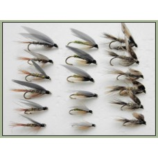 18 Wet Flies - March Brown, Hares Ear and Greenwell