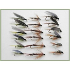 18 Wet Flies - Hares Ear ,Pheasant Tail, Medium Olive