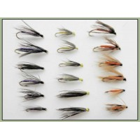 18 Wet Flies - Snipe & Purple,Part & Orange, Yellow & Dove