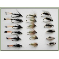 18 Wet Flies - Greenwell, Black Pennel, Coachman