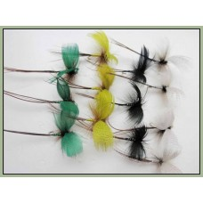 12 Drake Mayflies - Green, Yellow, Black, Grey