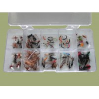 100 Mixed Flies in a Clear Presentation Box