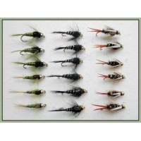 18 Goldhead Nymph  Flies - Prince,Olives,Black and Silver