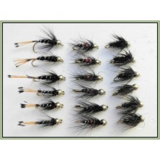 18 Goldhead Black Pennell,Bibio & Black and Peacock