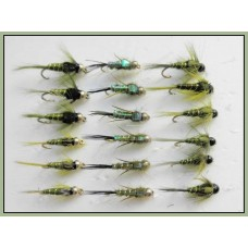 18 Goldhead & Tungsten Olive Nymph