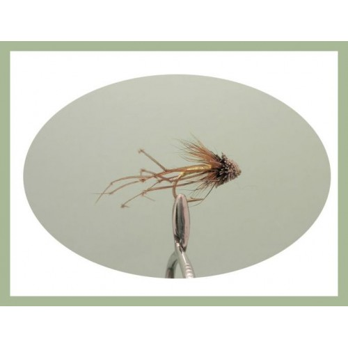 Muddler Daddy Long Legs Flies Pack of 3 for Trout Fly Fishing